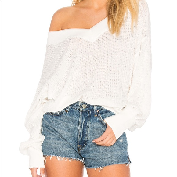 We The Free Tops - We The Free White Long Sleeve Knit Thermal G3249